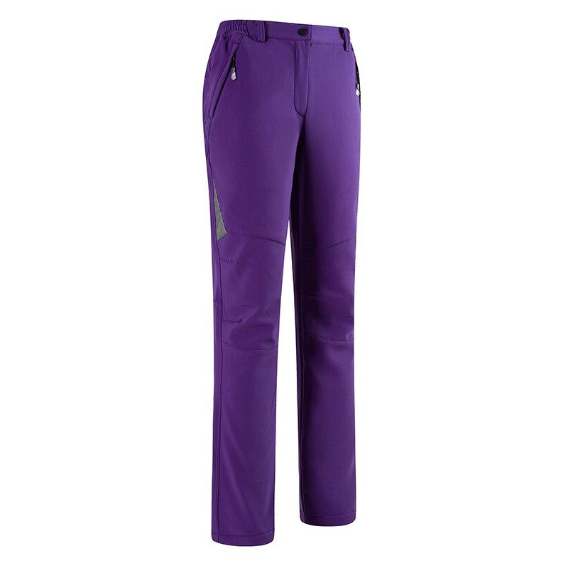 S-<font><b>5XL</b></font> Winter Outdoor Hiking Thermal Fleece Windproof Trousers Soft shell Women Trekking