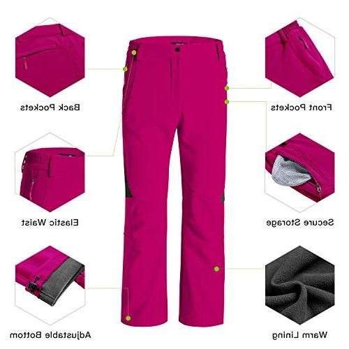 Wantdo Insulated Windproof Pants Red