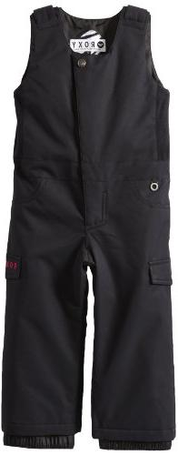 Roxy SNOW Little Girls'  Nadia Bib Pant, Anthracite, 2T