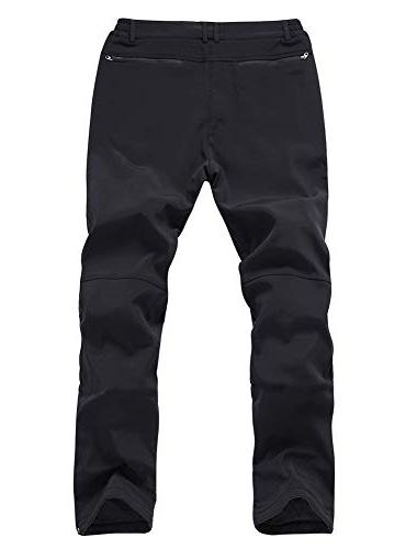 Gash Hao Mens Ski Waterproof Pants Outdoor Zipper Bottom
