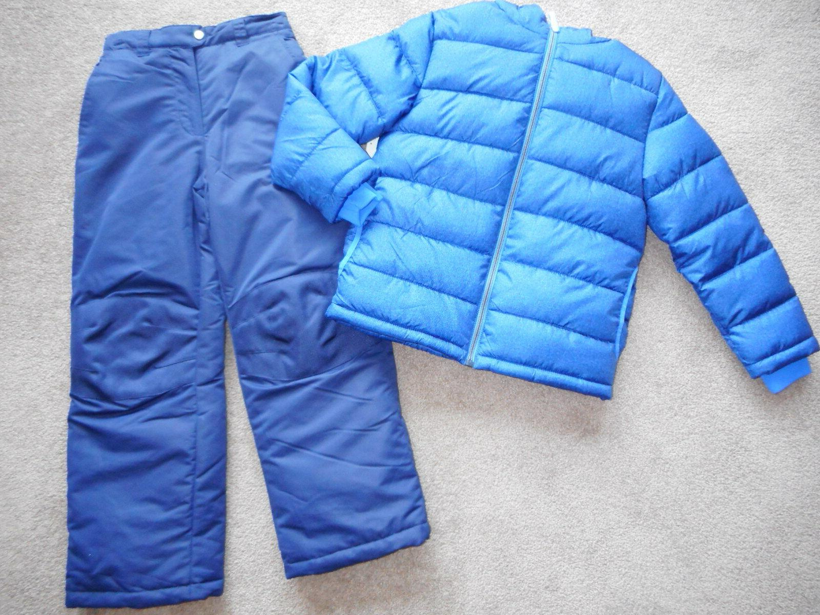 Snowsuits ski Puffer Jacket Coats Blue Pants 2 Pc 10/12