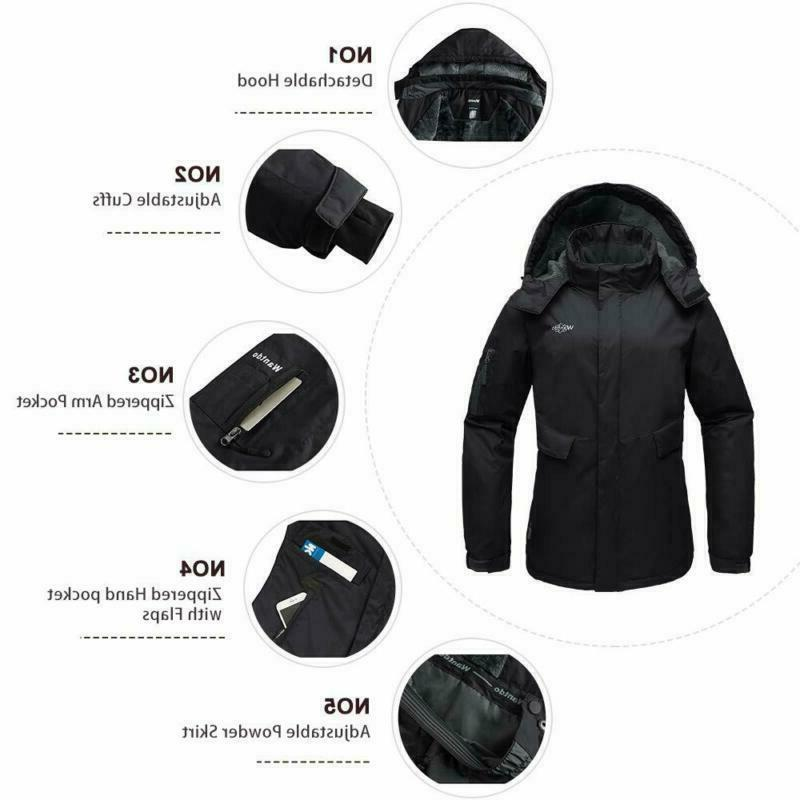 Wantdo Women's Fleece Jacket Waterproof Windproof