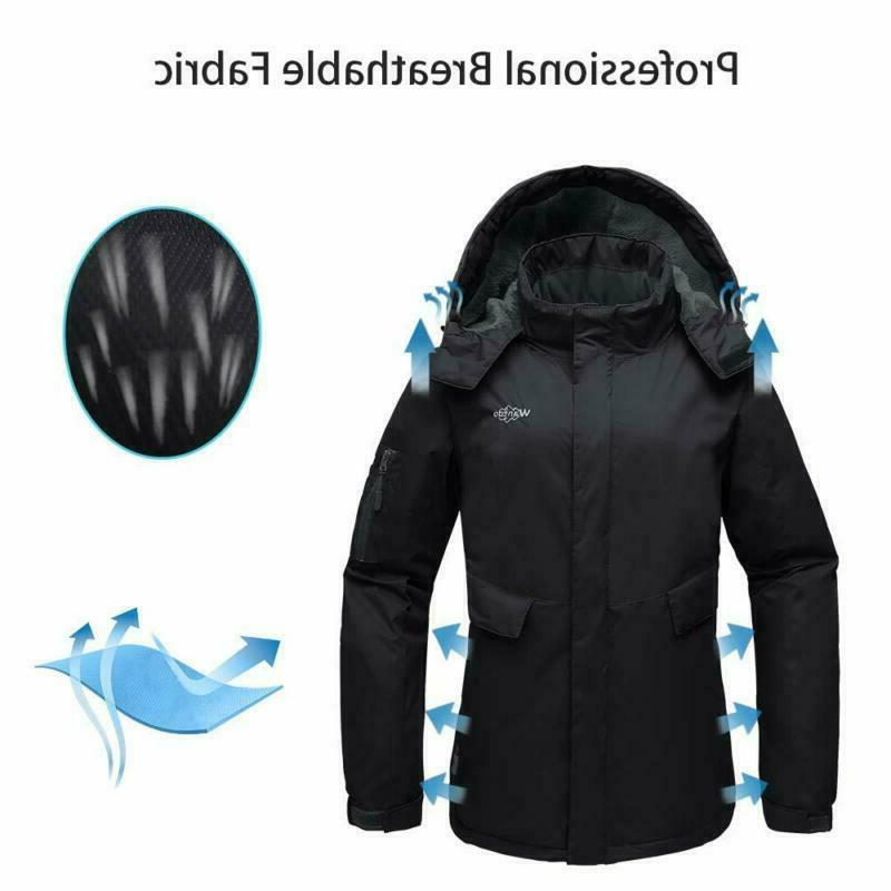Wantdo Women's Fleece Jacket Waterproof Windproof Warm Winter