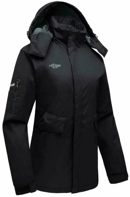 Wantdo Mountain Ski Fleece Jacket Waterproof Windproof Warm