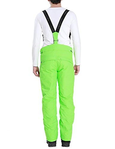 PHIBEE Waterproof Breathable Polyester Ski Pants Green