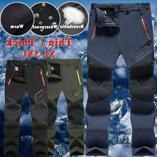 Waterproof Trousers Hiking Pants Softshell Men Trekking Ther