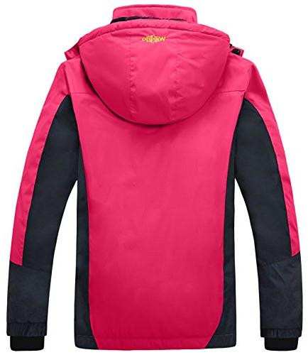 Wantdo Waterproof Mountain Jacket Ski Rose M Red Medium