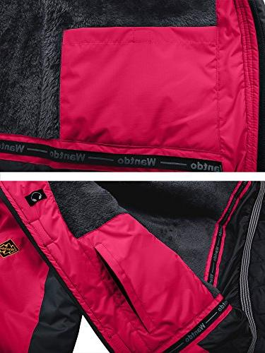 Wantdo Waterproof Jacket Rose M Red