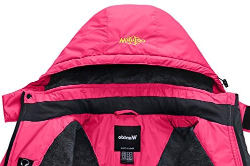 Wantdo Mountain Jacket Fleece Jacket Rose M Red
