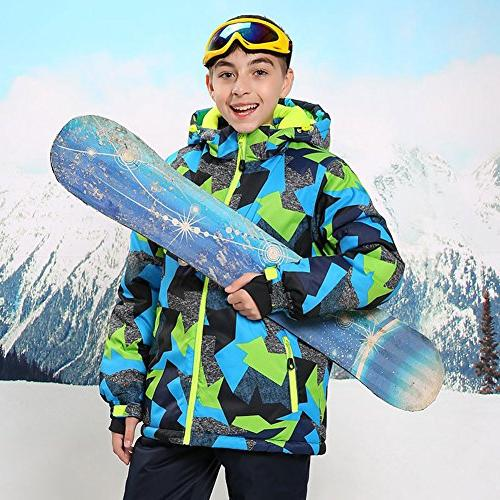 HOTIAN Boys Windproof Ski Insulated Jacket Pants Suit ,