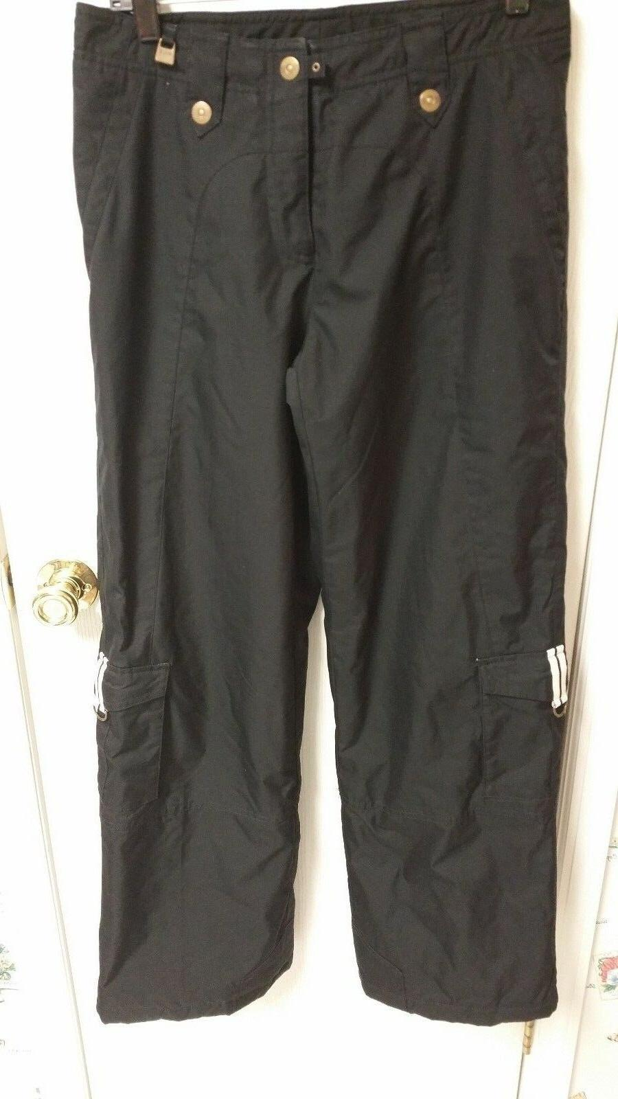Nils Women's Black Ski Snow Pants 6 Thermal Thermore Insulated