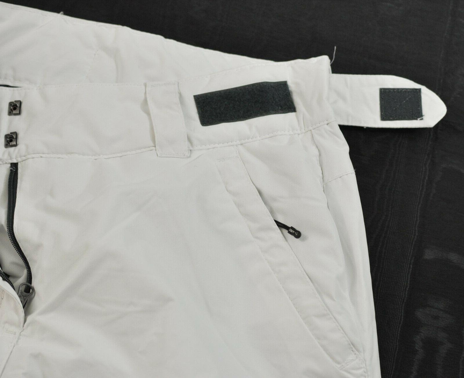 women's pants size white insulated lining snap