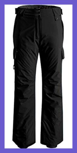 Wantdo Women's Waterproof Padding Insulated Cargo SNOW Pants