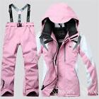 Women's Winter Ski Suits Warm Jacket Pants Waterproof Coat S