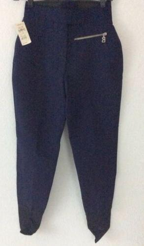 womens blue stretch stirrup ski winter pants