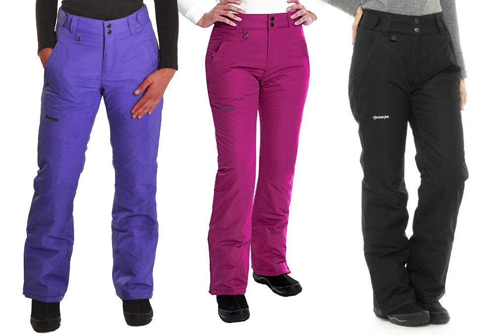 womens insulated snowboard and ski pants pl1800