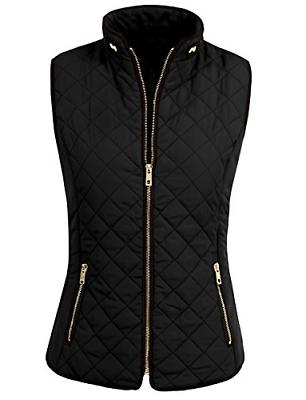 NE PEOPLE Womens Lightweight Quilted Zip Vest, Small, NEWV40