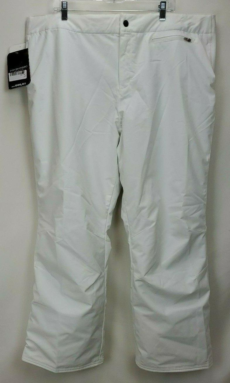 Obermeyer Womens Insulated Ski 20 2XL White Stretch