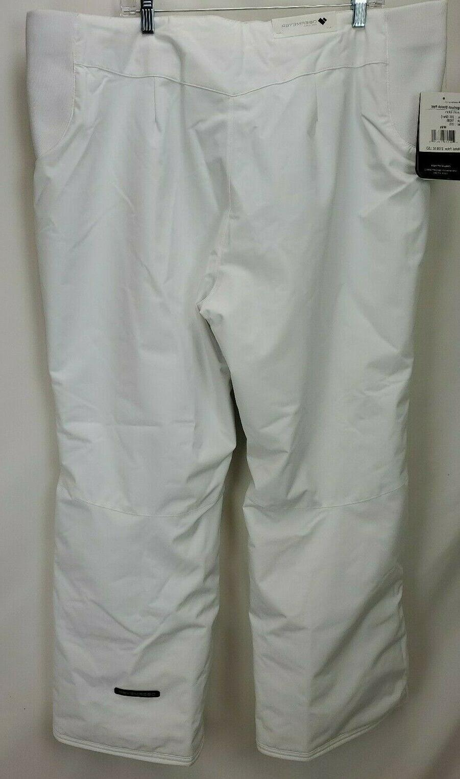 Obermeyer Womens Waterproof Insulated Ski 2XL White Stretch