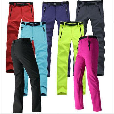Womens Warm Outdoor Hiking Ski Pants Fleece Padded Windproof