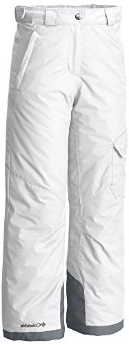 Columbia Youth Bugaboo Pants, Medium, White