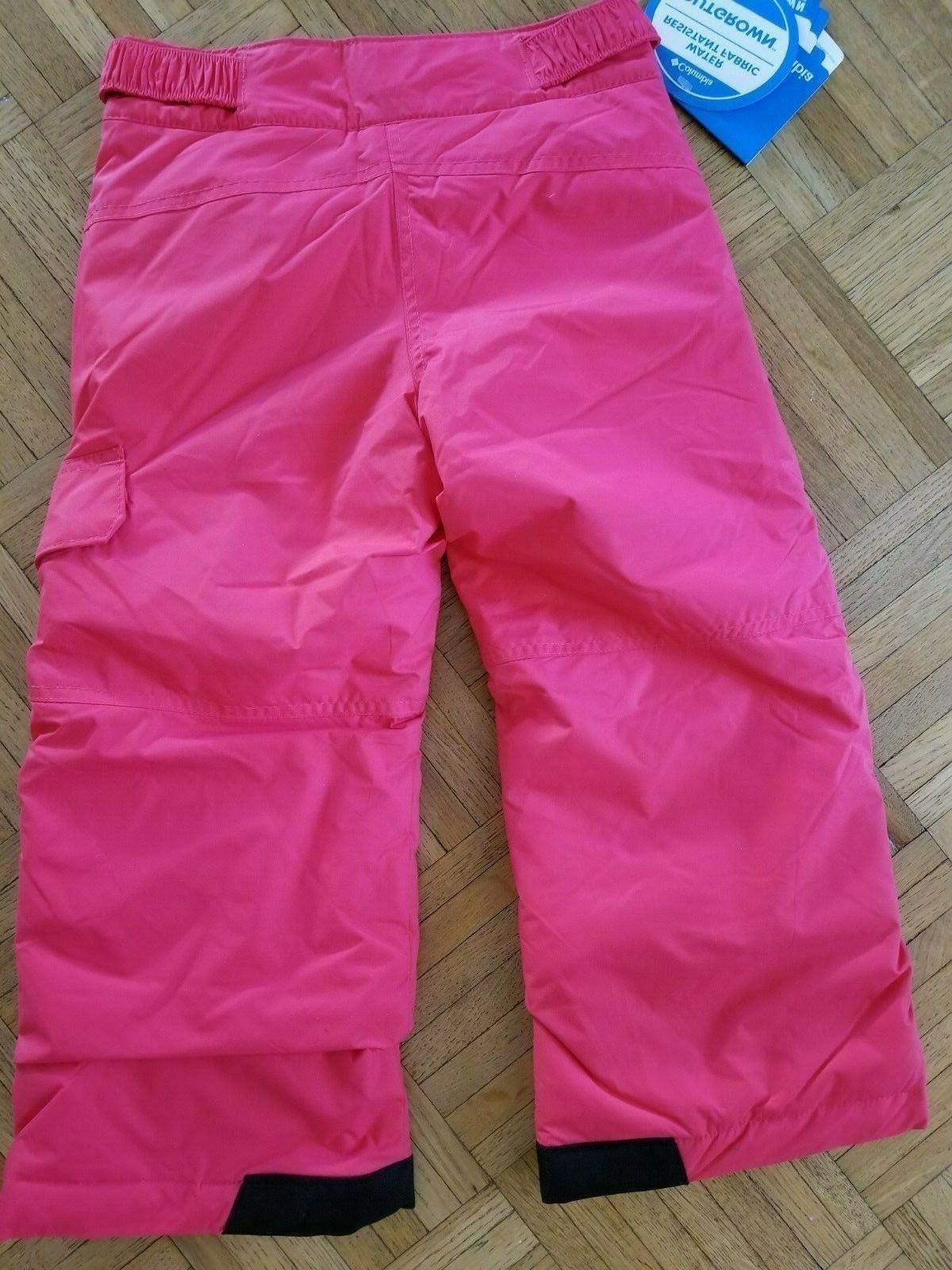 COLUMBIA Youth Now Talk Later Snow/Ski Pants NWT XS Pink