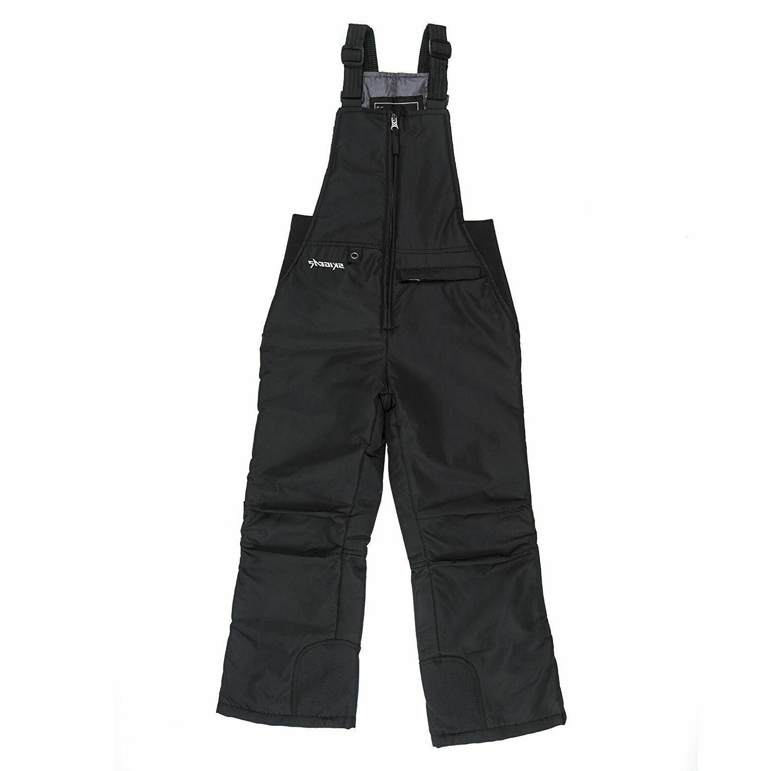 youth insulated bib overalls black small pl1550