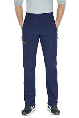 Nonwe Men's Outdoor Hiking Cargo Ski Pants Blue L 32""