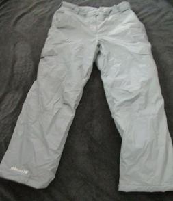Men's COLUMBIA SNOW GUN Insulated Pants Cargo Gray Waterproo
