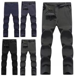 Men's Warm Outdoor Hiking Ski Pants Fleece Padded Windproof