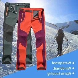 Men's Women's Warm Outdoor Hiking Ski Pants Fleece Windproof