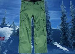 686 Mens Large 36-38 Olive Cargo Snowboard Ski Pants Waterpr