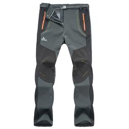 Mens Warm Outdoor Hiking Ski Pants Fleece Padded Windproof W