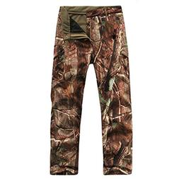 Eglemall Men's Military Tactical Hunting Pants Fleece Softsh