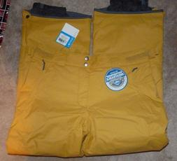 NEW COLUMBIA  Bugaboo II Pants Ski Snow Pilsner Yellow Men M