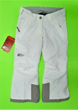 NWT $130 THE NORTH FACE Girls POWDANCE Snow White Ski Pants