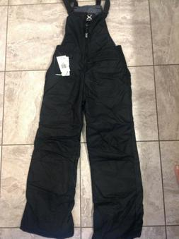 NWT Arctix Snow Pants Youth Sz XL Black Insulated Bib Overal