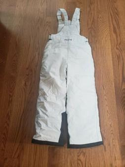 COLUMBIA Off-White Nylon SNOW BIBS Ski/Board Winter Pants Ki