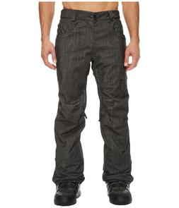 686 Raw Mens Insulated Snowboard Snow Ski Pant Black Denim L