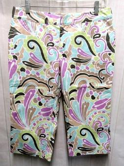TOMMY BAHAMA Size 6 NWOT White Multi Color Paisley Print Cot