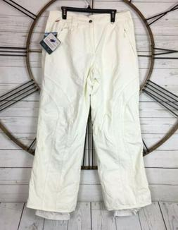 White Sierra Ski Snow Pants XL Womens Cadrona Pant Waterproo