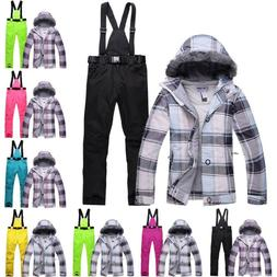 Ski Suit Set Jacket and Pants Womens Outdoor Snow Skiing Sno
