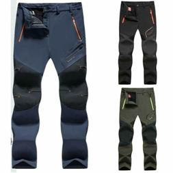 Skiing Soft Shell Pants Mens Outdoor Trousers Warm Lined Bot