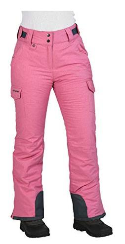 Arctix Women's Snowsport Cargo Pants, X-Small, Pink Rose