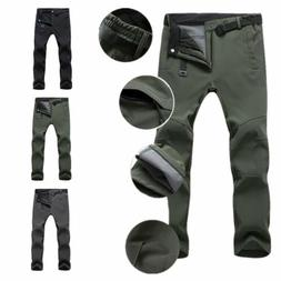 Warm Outdoor Hiking Ski Pants Fleece Padded Windproof Waterp