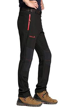 DONYAN Men's Waterproof Mountain Pants Fleece Windproof Ski
