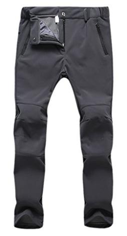 Aufgevals Women's Windproof Softshell Fleece Ski Pants