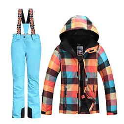 HOTIAN Women's High Windproof Technology Colorful Snowboardi