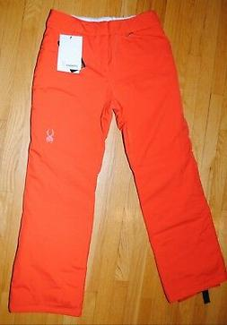 Spyder Winter Ski Pants Womens Orange Sizzle 150958 Thinsula