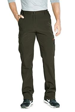 Nonwe Men's Water-Resistant Fleece Lined Warm Ski Pants Hiki